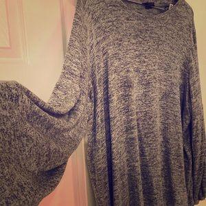 Chelsea & Theodore 2X Gray sweater
